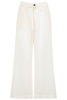 Off White Palazzo Pants by Asmita Marwah