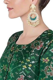 Gold Chand Baali Earrings