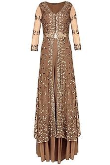 Copper Sequins Embellished Sharara Set