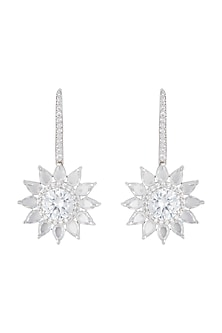 Silver plated diamond earrings by Aster