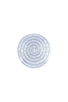White Finish Faux Diamond Ring by Aster