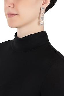Silver plated faux diamond earrings