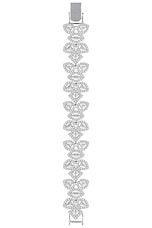 Silver plated white rhodium diamond bracelet by Aster