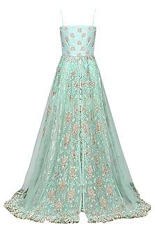Light Blue Embellished Anarkali with Skirt