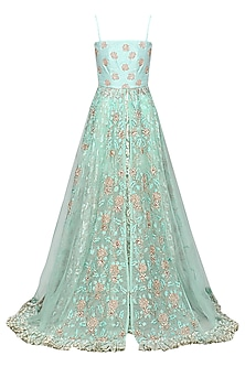 Light Blue Embellished Anarkali with Skirt by Architha Narayanam