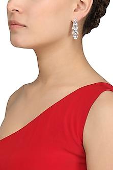 Silver Finish Small Dangler Earrings by Auraa Trends