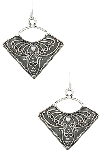 Auraa Trends Silver Finish Fish Earrings