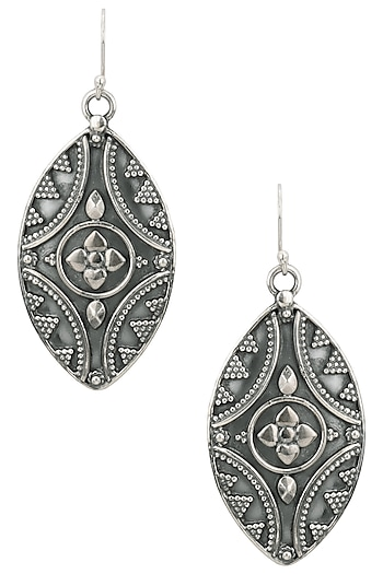 Auraa Trends Silver Finish Abstract Earrings