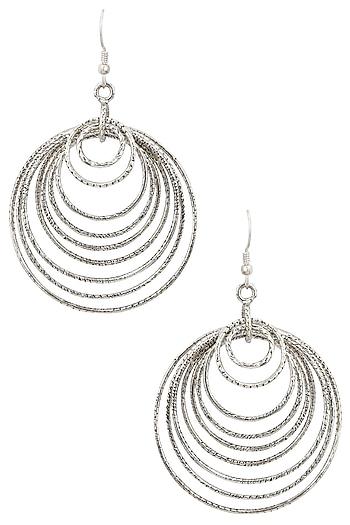 Auraa Trends Silver Finish Spiral Earrings