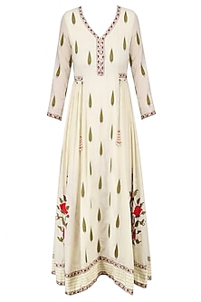 Ivory Embroidered Samode Tunic