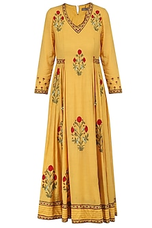 Mustard Embroidered Samode Tunic
