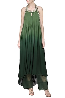 Olive Green Ruched Tunic by Avdi