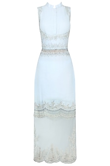 Powder Blue Tasseled Maxi by Avdi