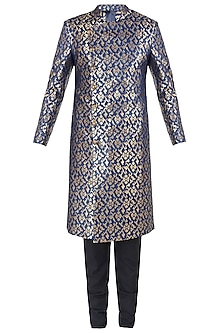 Prussian Blue Sherwani Set