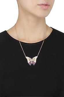 Rose Gold Big Butterfly Necklace by Bansri