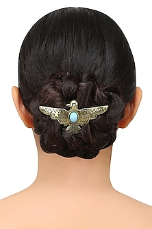 Rhodium Gold Plated Bird Shape Hairpin by Bansri