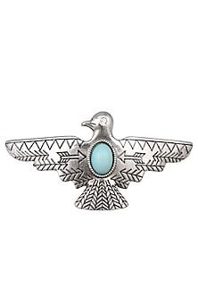 Rhodium Silver Plated Bird Shape Hairpin by Bansri
