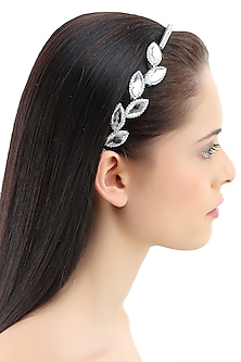 White stone petal design headband by Bansri