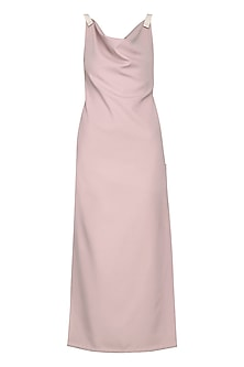 Ash Pink Sculpt Maxi Dress