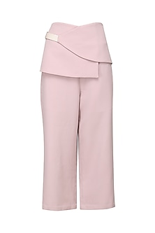 Ash Pink Panelled Waistband Culottes