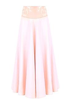 Blush Pink Beads and Sequinned Circle Skirt by Bhaavya Bhatnagar