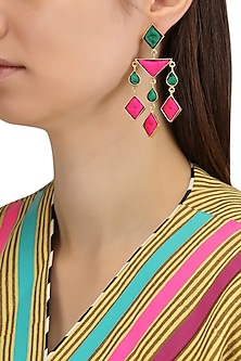 Matte Finish Geometric Shaped Earrings