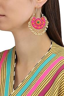 Matte Finish Round Silk Thread Earrings by Bauble Bazaar
