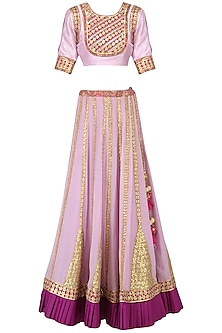 Lavender Gota Patti Work Lehenga Set