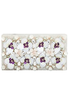 Ivory Embroidered Clutch by Be Chic
