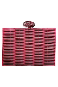 Pink Self Detailing Clutch by Be Chic