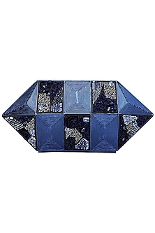 Blue Embroidered Clutch by Be Chic