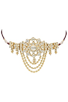 Gold plated kundan amulet by BELSI'S JEWELLERY