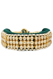 Gold plated kundan bracelet by BELSI'S JEWELLERY