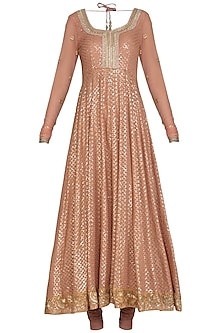 Blush Pink Embellished Anarkali Set by Bhumika Grover