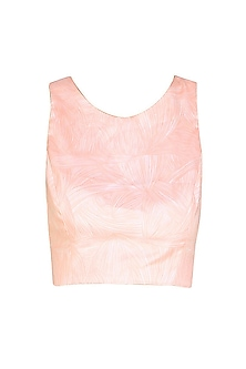 Nude Flesh Print T-Crop Top by Bhoomika Chouhan