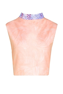 Nude Flesh Print Retro Top