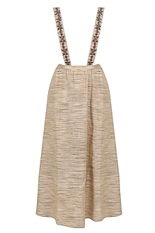 Nude Maxi Skirt With Detachable Shoulder Straps