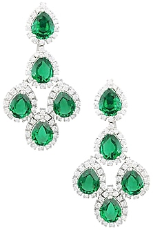031b16c42 Rhodium finish zircons and green stones necklace available only at ...