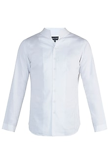 White bespoke handcrafted shirt