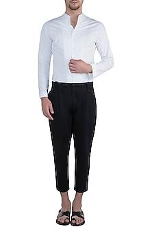 White bespoke handcrafted shirt by BLONI