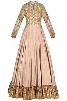 Bright Nude Anarkali Gown