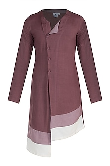 Purple Asymmetric Kurta by Bohame