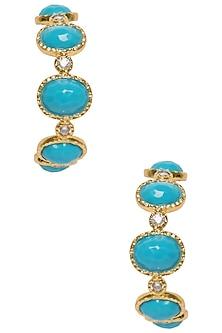 Turquoise Frida Hoop Earrings by The Bohemian