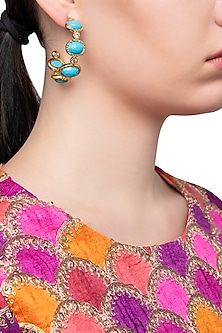 Turquoise Frida Hoop Earrings