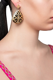 Black Fat Filigree Earrings by The Bohemian