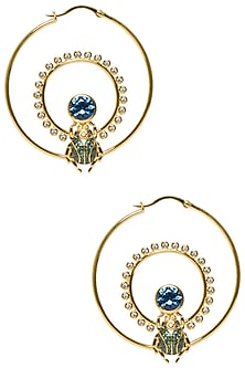 Multi Colored Bettle Loop Earring by The Bohemian