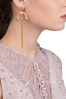 Pink Half Hoop Earring by The Bohemian
