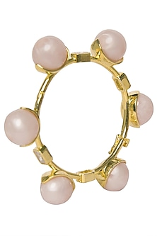 Baby Pink Zircon Ball Bangle by The Bohemian