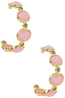 Pink Frida Hoop Earrings by The Bohemian