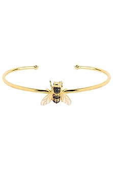 Gold Plated Bee Motif Bracelet by The Bohemian